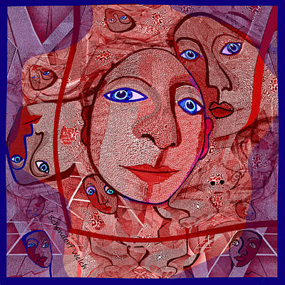 Digital Art - 1468 by Irmgard Schoendorf Welch