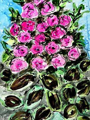 Painting - Divine Blooms by Baljit Chadha