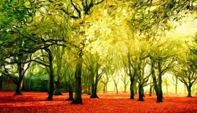 Forest Painting - Landscape Definition Nature by Margaret J Rocha