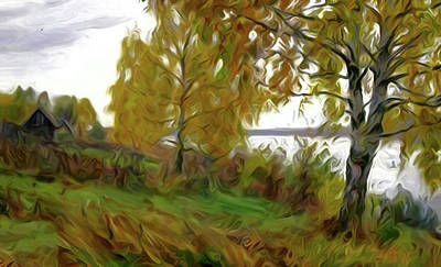 Valley Painting - Nature Landscape Art by Edna Wallen