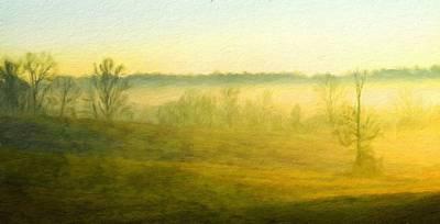 Sunrise Painting - Nature Landscape Jobs by Margaret J Rocha
