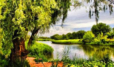 Field Painting - Nature Oil Painting Landscape Images by Margaret J Rocha