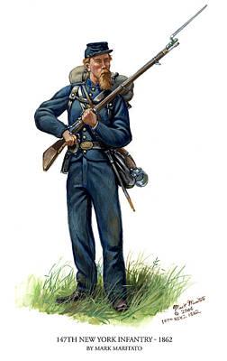 147th New York Infantry - 1862 Original by Mark Maritato