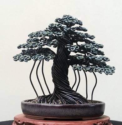 #148 Banyan Style Wire Tree Sculpture Original by Ricks Tree Art