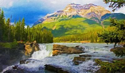 Clouds Painting - Nature Landscape Oil by Margaret J Rocha