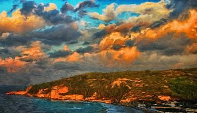 Park Painting - Nature Landscape Oil Painting by Margaret J Rocha