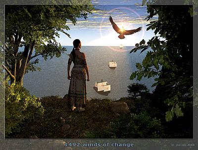 1492 - Winds Of Change Art Print