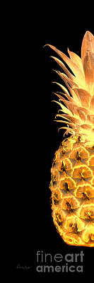 Photograph - 14gl Abstract Expressive Pineapple Digital Art by Ricardos Creations