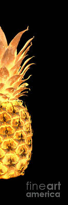 Photograph - 14gr Abstract Expressive Pineapple Digital Art by Ricardos Creations