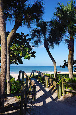 Photograph - 14th Ave S Beach Access Ramp - Naples Fl by Robb Stan
