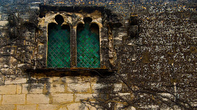 Photograph - 14th Century Stained Glass Window Avagnon France by Jani Freimann