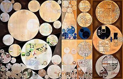 Abstract Painting - Seal Brown Art Print