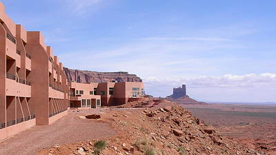 America - Monument Valley View Hotel Art Print by Jeffrey Shaw