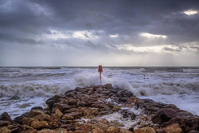 Windy Photograph - Barton On Sea - England by Joana Kruse