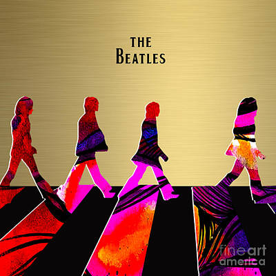 Poster Mixed Media - Beatles Collection by Marvin Blaine