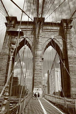 Photograph - Brooklyn Bridge - New York City by Frank Romeo