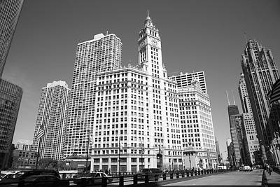 Mural Photograph - Chicago Skyline by Frank Romeo