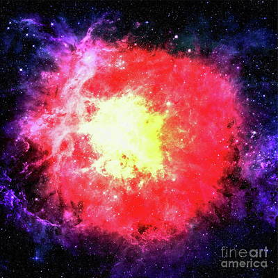 Colorful Space Galaxy Background With Shining Stars, Stardust And Nebula Original
