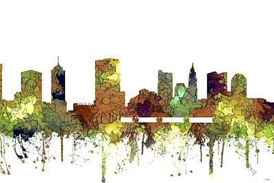 Digital Art - Columbus Ohio Skyline by Marlene Watson