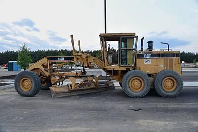 15 - Caterpillar Motor Grader - Cat Earth Grader - Construction Equipment Series Art Print