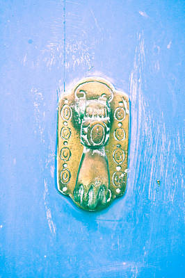 Turquoise Ring Photograph - Door Knocker by Tom Gowanlock