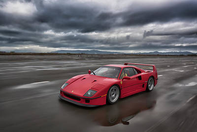 Photograph - #ferrari #f40 #print by ItzKirb Photography