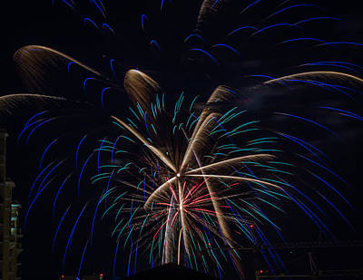 Photograph - Fireworks 2015 Sarasota 23 by Richard Goldman