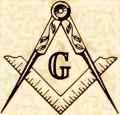 Sacred-symbol Painting - Freemason Symbolism By Pierre Blanchard by Pierre Blanchard