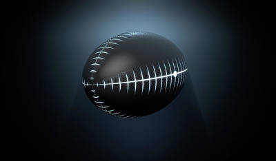 Futuristic Neon Sports Ball Art Print by Allan Swart