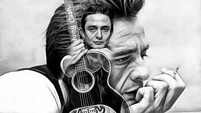 Mixed Media - Johnny Cash Collection by Marvin Blaine