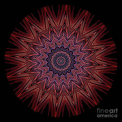Photograph - Kaleidoscope Image Created From Light Trails by Amy Cicconi