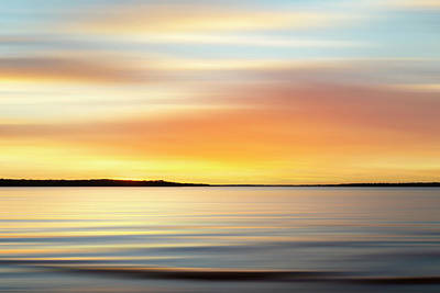 Angels And Cherubs - Lake Sunset XI by Ricky Barnard