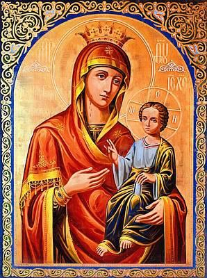 Madonna And Child Digital Art - Madonna Christian Art by Christian Art