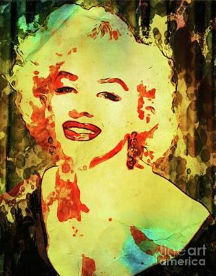 Chaplin Digital Art - Marilyn Monroe Vintage Hollywood Actress by Mary Bassett