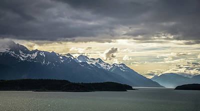 Photograph - Mud Bay Alaska Mountain Range At Sunset by Alex Grichenko