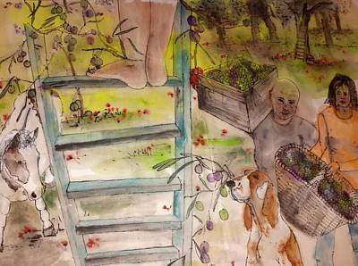 my Apuglia dream album Art Print by Debbi Saccomanno Chan