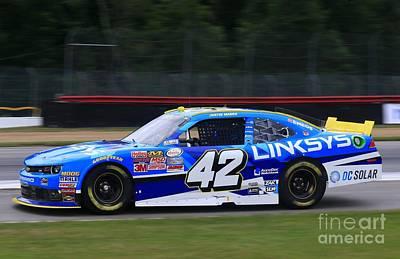 Justin Marks Racing Art Print by Douglas Sacha