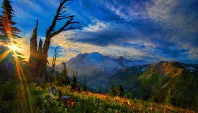 Idyllic Painting - Nature Art Landscape Canvas Art Paintings Oil by Margaret J Rocha
