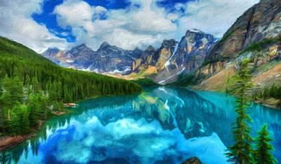 Bob Ross Painting - Nature Art Original Landscape Paintings by Margaret J Rocha