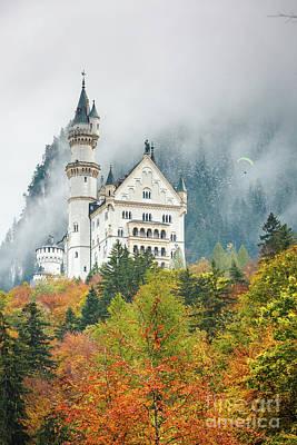Katharine Hepburn - Neuschwanstein castle by Sabino Parente