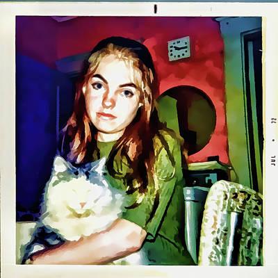 Digital Art - 15 Past 10, July 1972 by Susan Lafleur