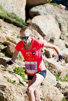 Steven Krull Royalty-Free and Rights-Managed Images - Pikes Peak Marathon and Ascent by Steven Krull