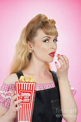 Painted Nails Photograph - Pin Up Girl by Amanda Elwell