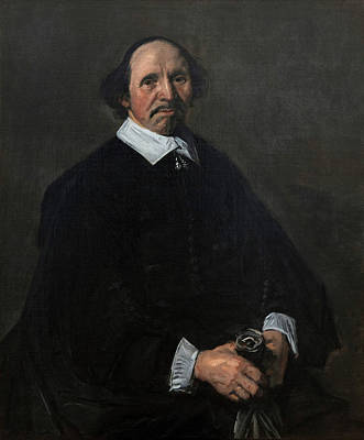 Holland Painting - Portrait Of A Man by Frans Hals