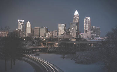Photograph - Rare Winter Scenery Around Charlotte North Carolina by Alex Grichenko