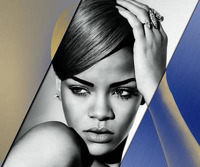 Rap Mixed Media - Rihanna Collection by Marvin Blaine