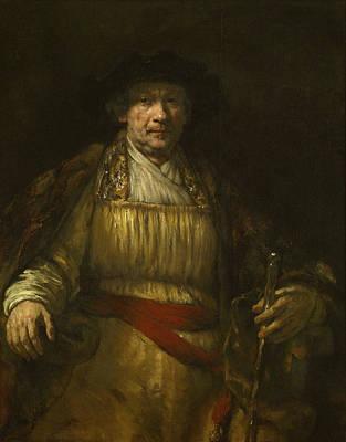 Self Portrait Painting - Self-portrait by Rembrandt van Rijn