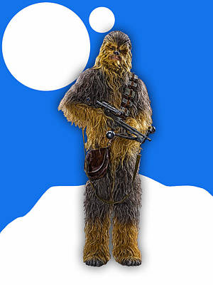 Star Wars Chewbacca Collection Art Print by Marvin Blaine