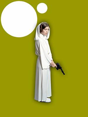 Movie Star Mixed Media - Star Wars Princess Leia Collection by Marvin Blaine