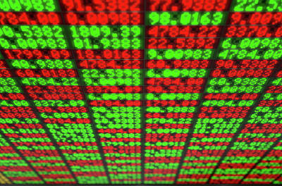 Numbers Digital Art - Stock Market Digital Board by Allan Swart